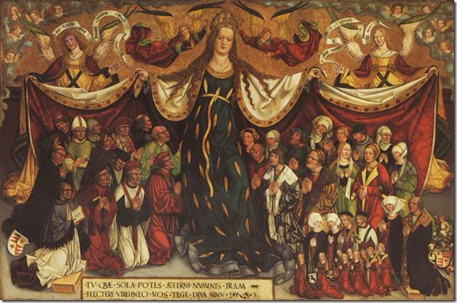 1500-10 Jan Polack Schutzmantelmadonna der Familie Sänftl Pfarrkirche Zu Unserer Lieben Frau Munchen