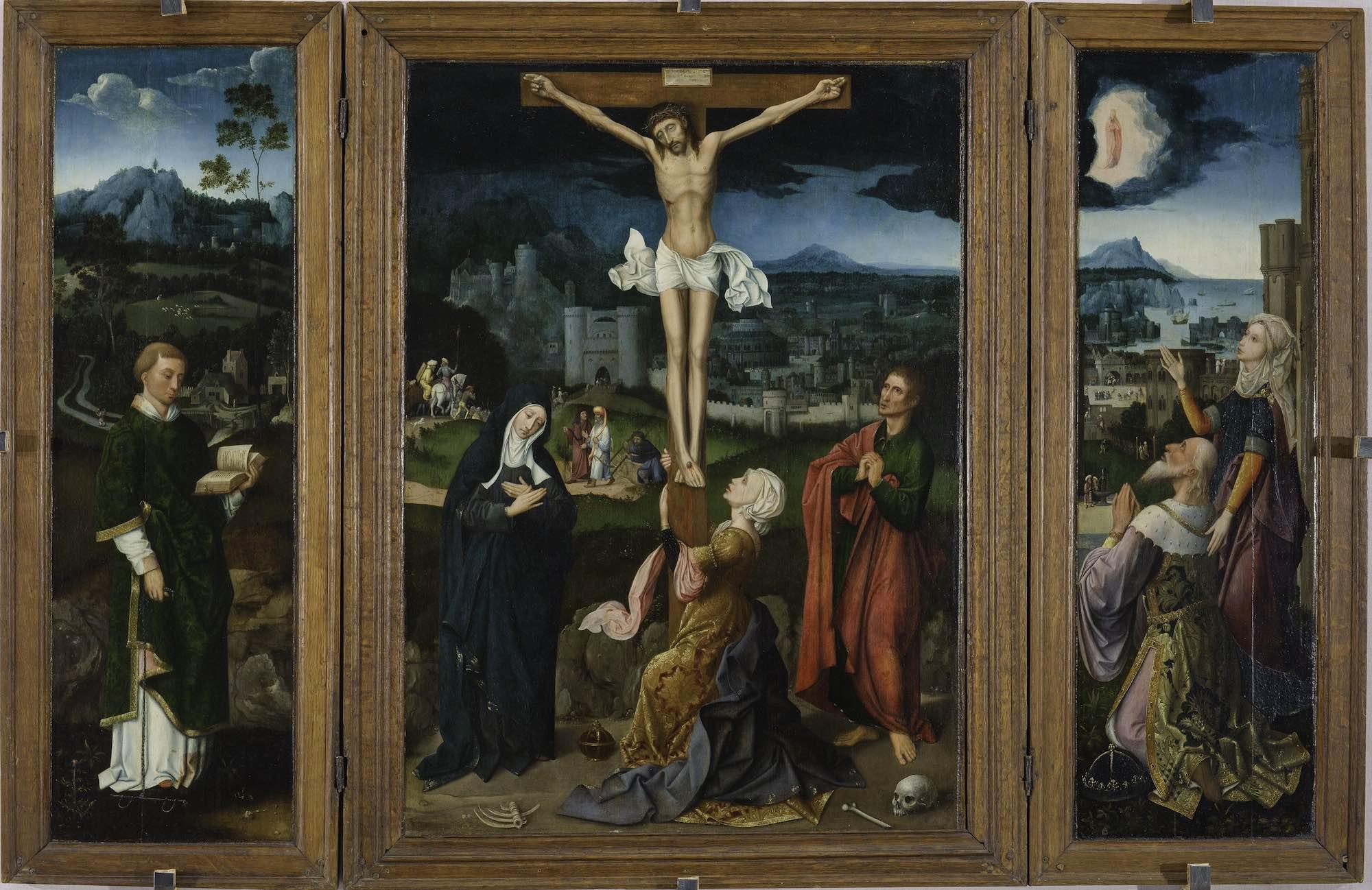 Crucifixion 1500-20-Atelier-de-Joachim-Patinir-coll-priv