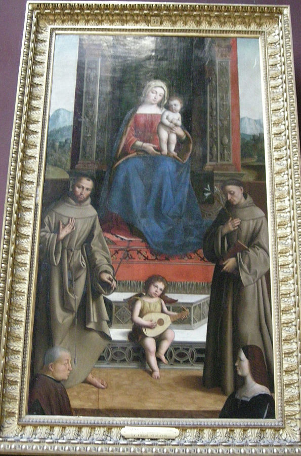 1500-25 Pisano, Niccolo Saint Francois, Saint Antoine et Deux Donateurs, Musee Conde, Chantilly