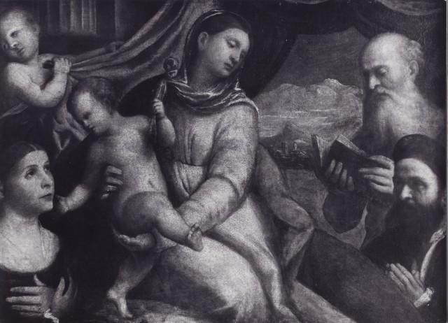 1500-26 Luzzo Lorenzo, Madonna con Bambino, san Girolamo e donatori coll priv