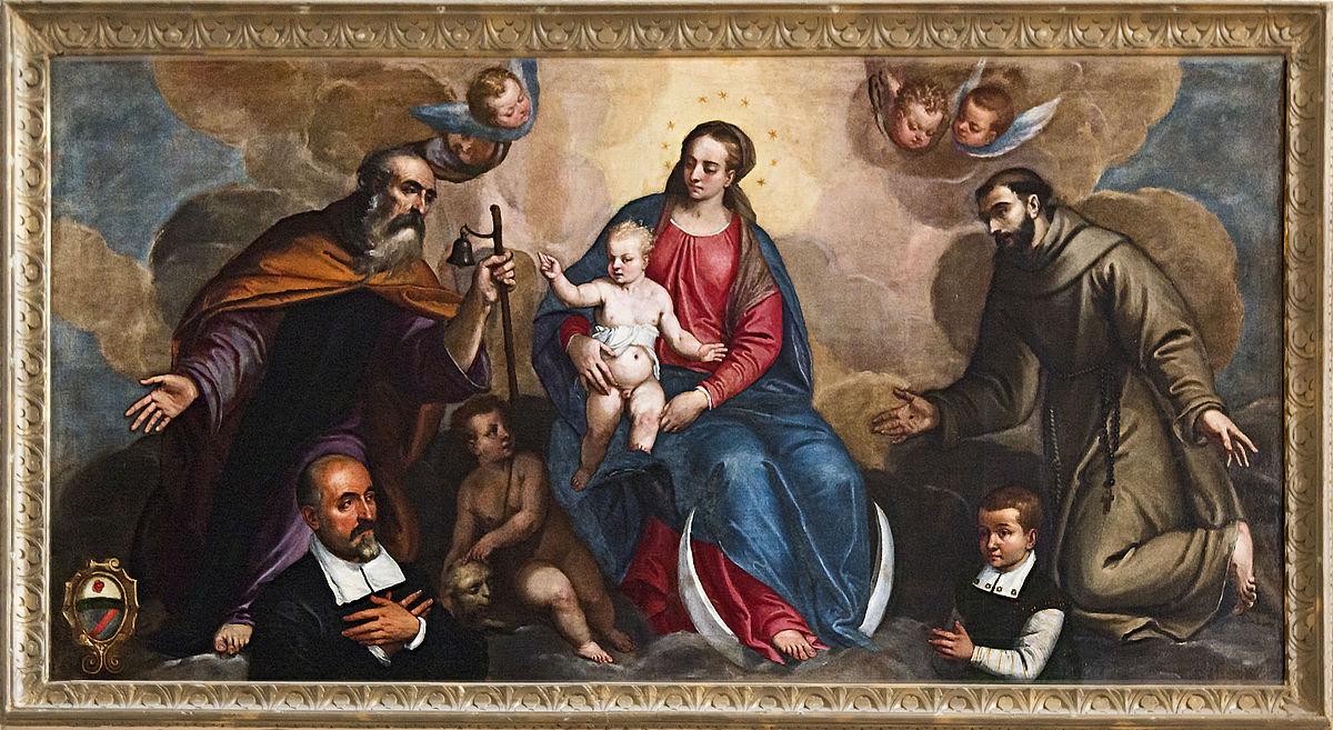 1500-99 Vassilacchi A. , Madonna Immacolata con Gesù Bambino, santi e donatori Capella Giustinian di San Francesco della Vigna