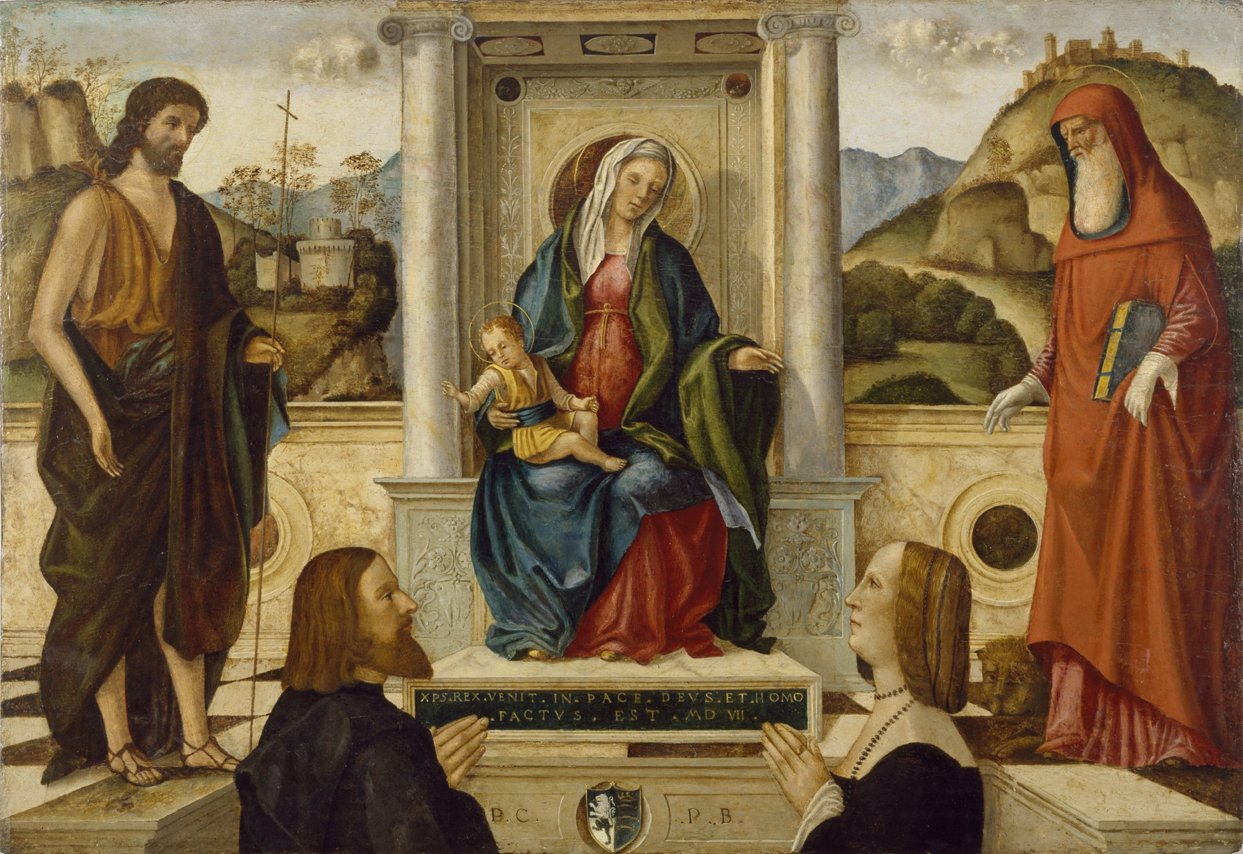 1507 Carpaccio Walters Art Museum Madonna and Child Enthroned with Saints and Donori