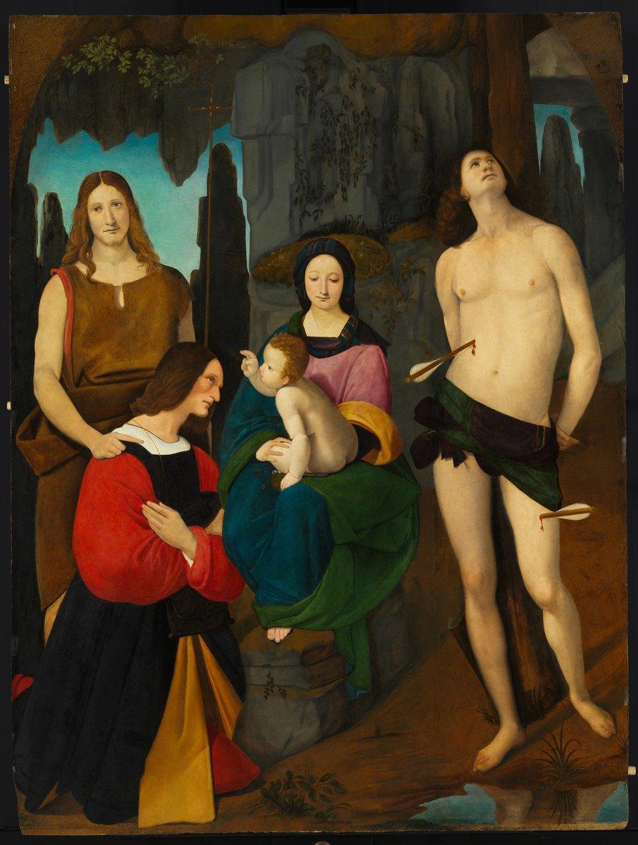 1508, Boltraffio, Madonne de Lodi avec le donateur Bassiano Da Ponte Musee des Beaux Arts, Budapest