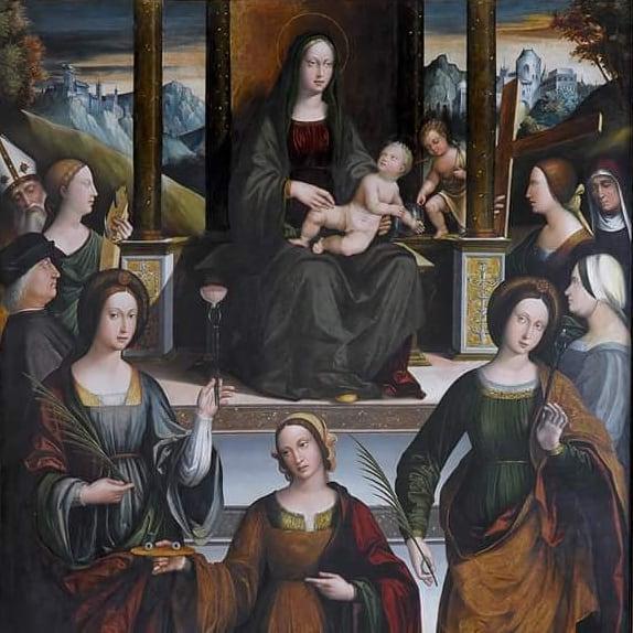 1512 Coltellini Michele, san Maurelio, Caterina Agata Lucia, Apollonia'Elena, Caterina e donatori Pinacoteca Nazionale, Ferrara
