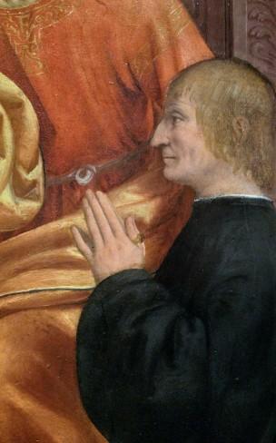 1515-1518 Zenale-Pala-Busti Brera Milan Antonio Busti St. Jacques and St. Philip detail2