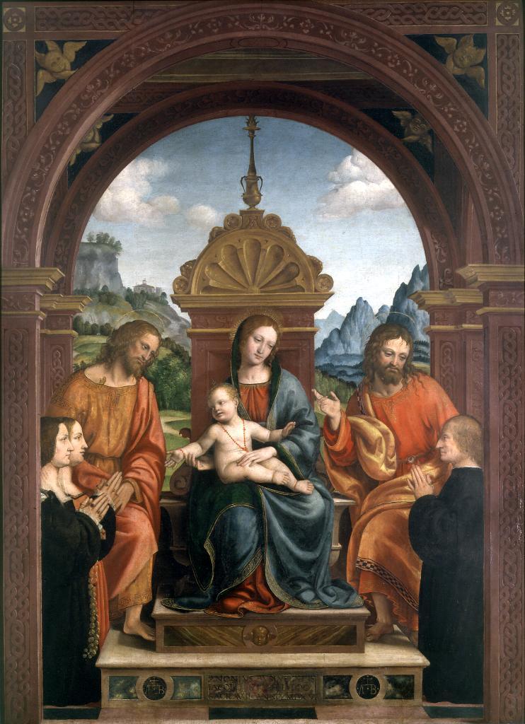 1515-1518 Zenale-Pala-Busti Brera Milan Antonio Busti St. Jacques and St. Philip