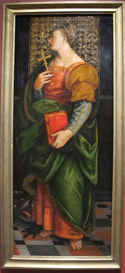 1515-25 Girolamo_giovenone Ste Marguerite Musee Pouchkine