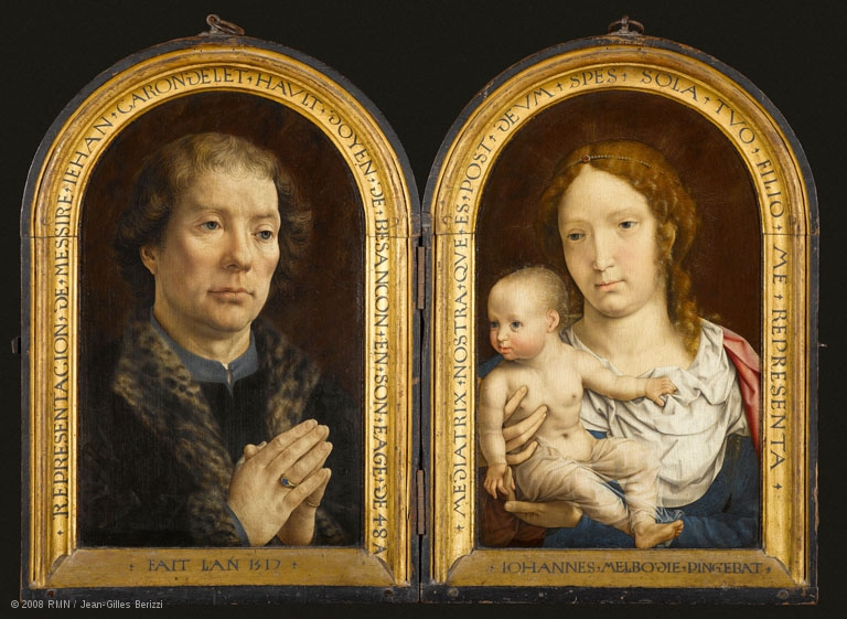 1517 Mabuse diptyque Carondelet Louvre