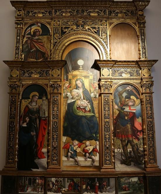 1520-30 Defendente Ferrari. Santa Barbara con il donatore e San Michele, Sacra Famiglia, San Valeriano, Galleria Sabauda
