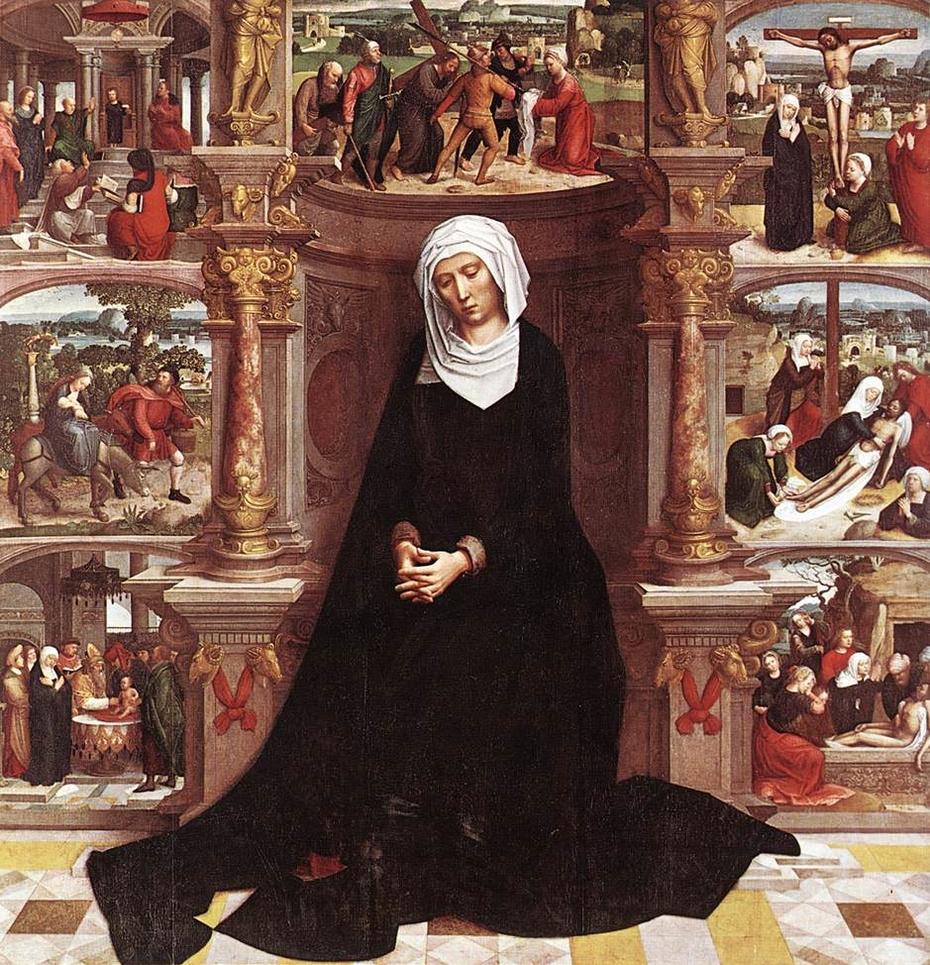 1521 Adrien Isenbrant 1521 diptyque de la Vierge des Sept Douleurs eglise Notre-Dame de Bruges droit