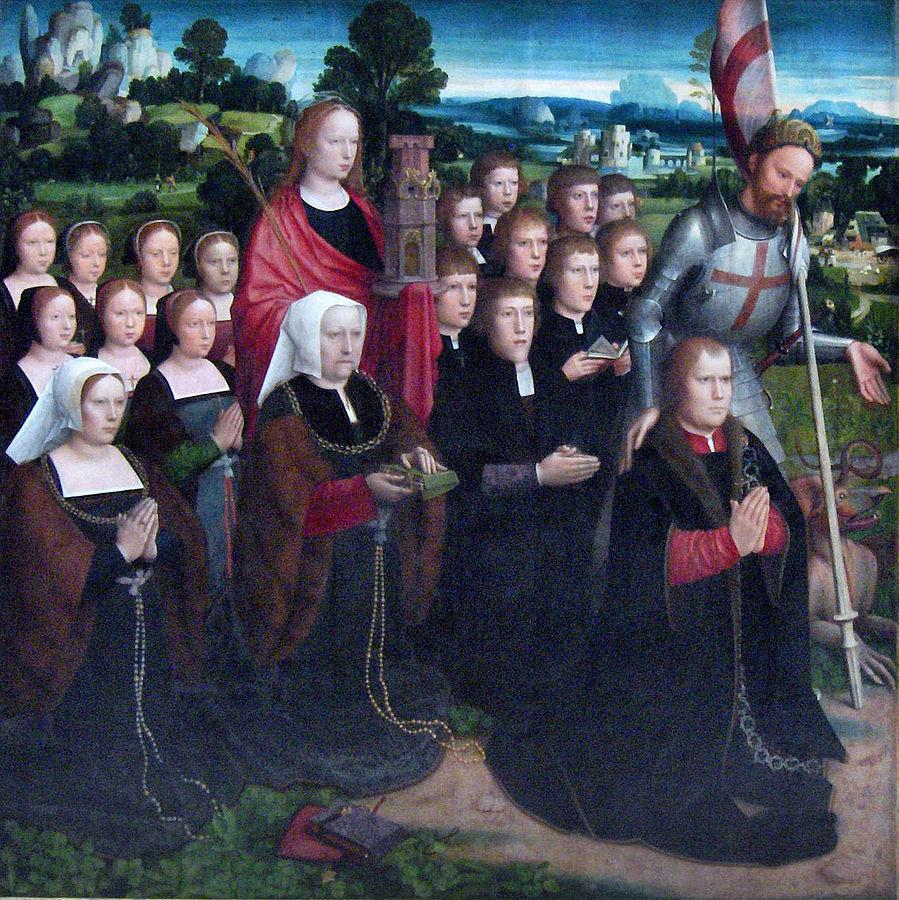 1521 Adrien Isenbrant diptyque de la Vierge des Sept Douleurs volet g Musees royaux des Beaux-Arts de Belgique.