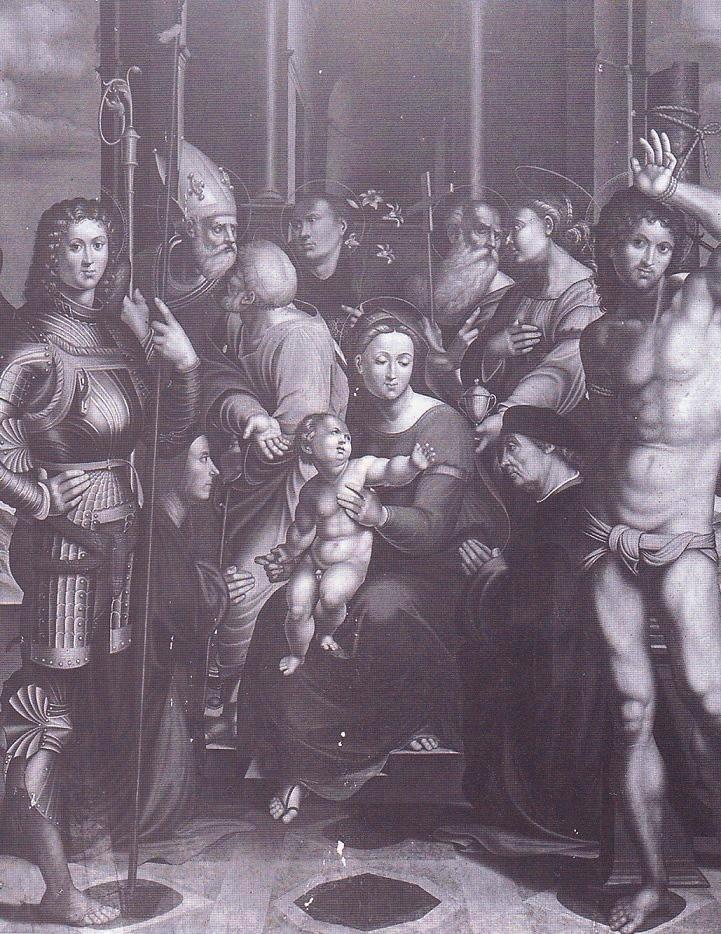 1523 Sacchi Gaspare, san Giuseppe, santi e i donatori Bonaccorsi Chiesa di S. Maria Vecchia, Faenza
