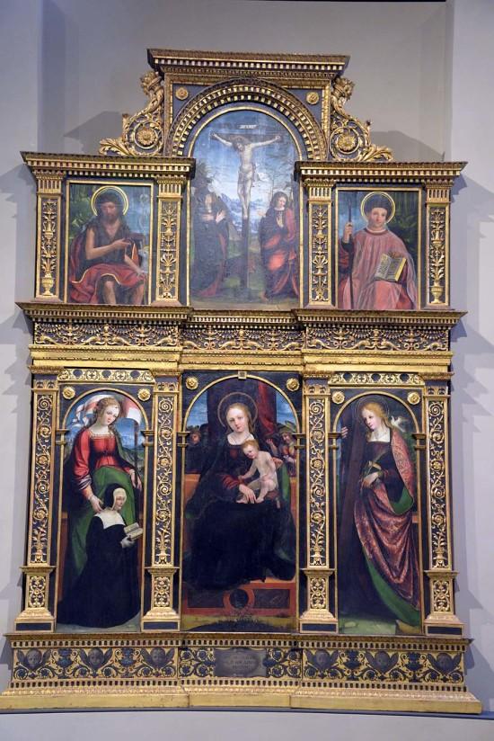 1525 ca Pietro Grammorseo et Gandolfino sant'Orsola; sant'Eulalia; san Giovanni Battista; san Giulio polyptique de la cathédrale de Asti Palazzo Madama Turin ensemble