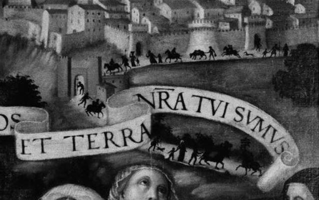 1526 gonfalone-berto-di-giovanni cattedrale di San Lorenzo Pérouse detail deoit