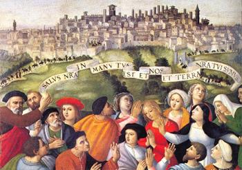 1526 gonfalone-berto-di-giovanni cattedrale di San Lorenzo Pérouse detail3