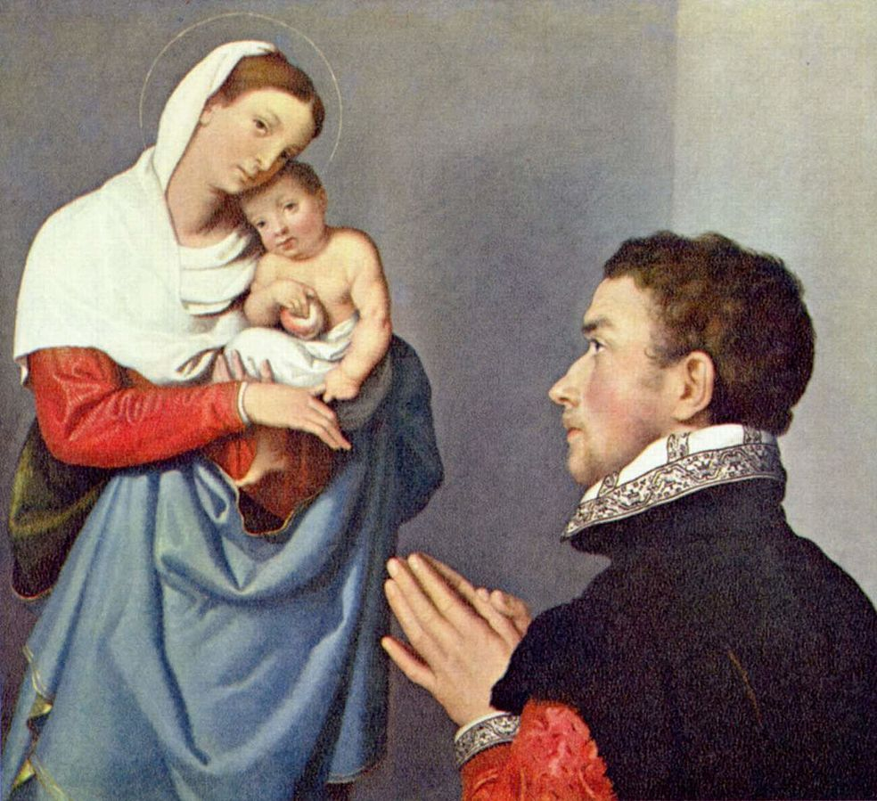 1560 ca Giovanni_Battista_Moroni_-_A_Gentleman_in_Adoration_before_the_Madonna_-_National_Gallery_of_Art