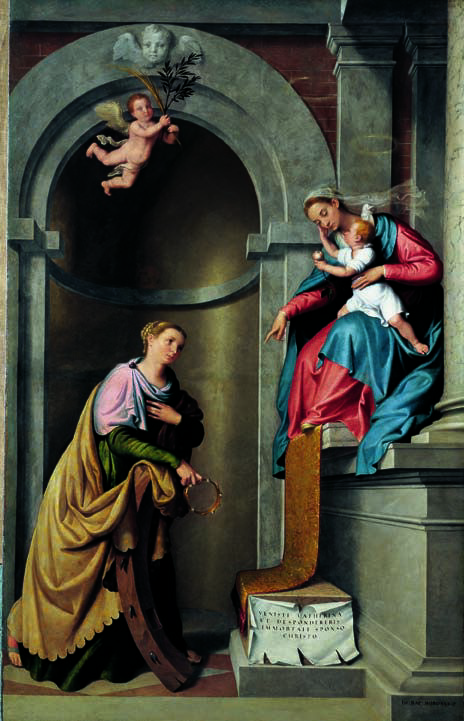 1567-70 Moroni Mariage mystique de Ste Catherine eglise d'Almenno San Bartolomeo