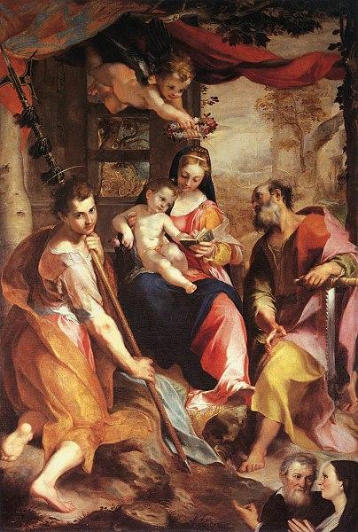 1567 Barocci Madonna di San Simone Galleria Nazionale delle Marche Urbino_WGA01299