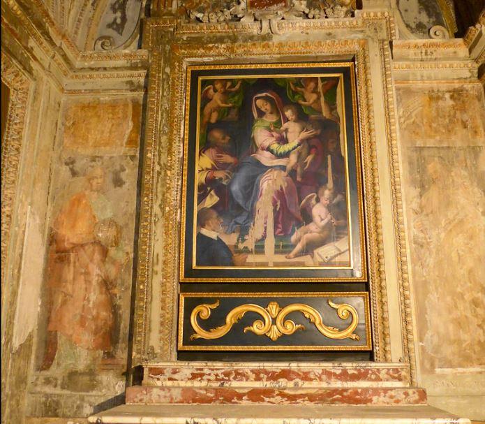 1570-75 Agresti Livio, Madonna con Bambino, san Giuseppe e il committente Andrea Pelucchi Chiesa di S. Maria della Consolazione, Roma ensemble
