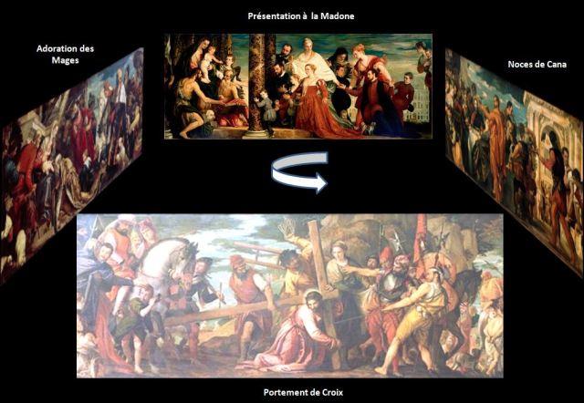 1571 Paolo_Veronese The_Madonna_of_the_Cuccina_Family_Gemaldegalerie Dresde ensemble