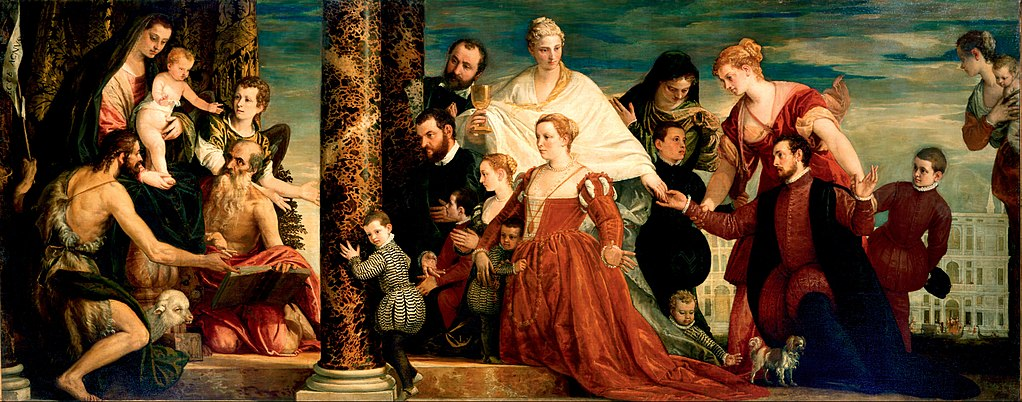 1571 Paolo_Veronese The_Madonna_of_the_Cuccina_Family_Gemaldegalerie Dresde
