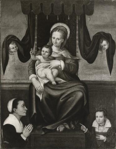 1573 India Bernardino, Madonna con Bambino e donatrici coll priv