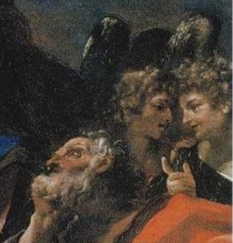 1591 Ludovico Carracci Madonna col Bambino, i santi Giuseppe, Francesco e due committenti (La Carraccina) Cento, Pinacoteca civica detail anges