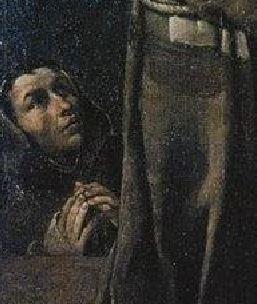 1591 Ludovico Carracci Madonna col Bambino, i santi Giuseppe, Francesco e due committenti (La Carraccina) Cento, Pinacoteca civica detail frere