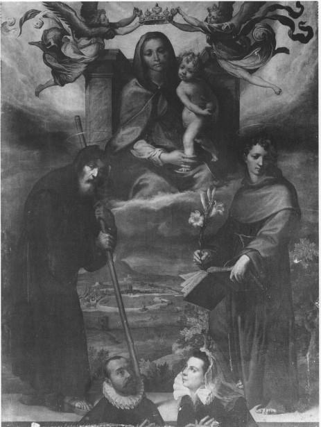 1595 Francesco Curia Madonna del'Arco tra i Danti Francesco di Paola e Antonio di Padova et commitenti, Polo Museale, Naples