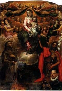1598 Gaspar Hovic Madonna degli Angeli S. Francesco S. Giovanni Battista committente Chiesa di S. Angelo , Ruvo di Puglia