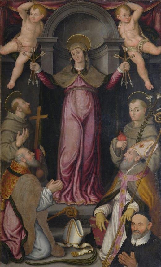 1599, Gian Battista Bertucci il Giovane, S.Francescoi, Sant'Antonio, San Savino, Sant'Apollinare committente don Rondinini Faenza, Museo Diocesano