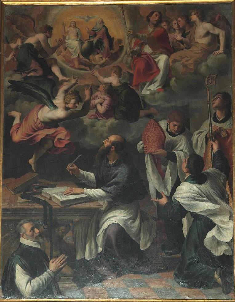 1610-13 ALESSANDRO TURCHI detto l'ORBETTO Agostino medita il mistero della Trinita Verona, chiesa dei Santi Apostoli