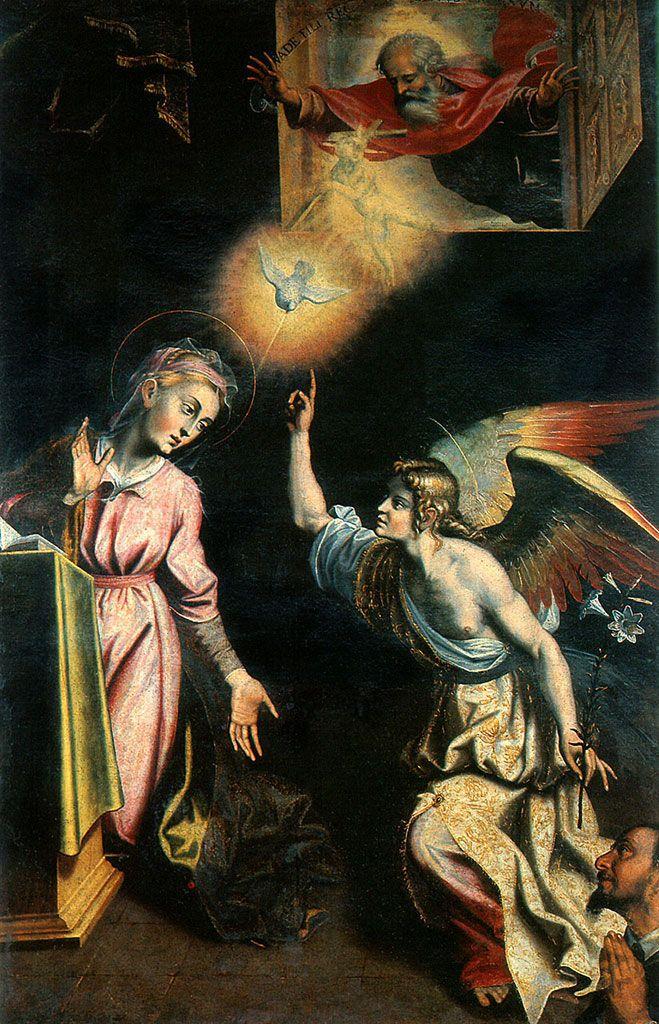 1612 Giovanni De Gregorio, detto il Prietrafesa ,Annunciazione - chiesa di S. Michele, Potenza