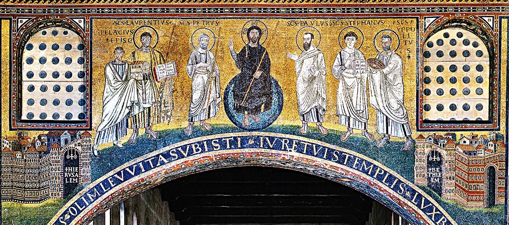 578-590 Eveque Pelagius san-lorenzo fuori le mure Roma