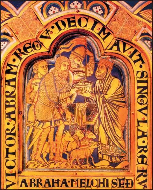Abraham et Melchisedek ,Nicolas de Verdun, XIIeme siècle, Klosterneuburg