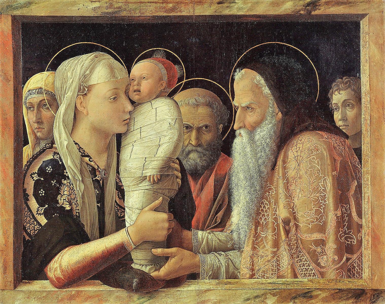 Andrea_Mantegna 1454 La Presentation au Temple Gemaldegalerie Berlin