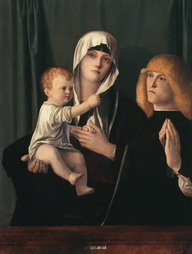 Bellini atelier Madonna Child With Donor Bellini Friedsam Library Saint Bonaventure Art Collection Allegany