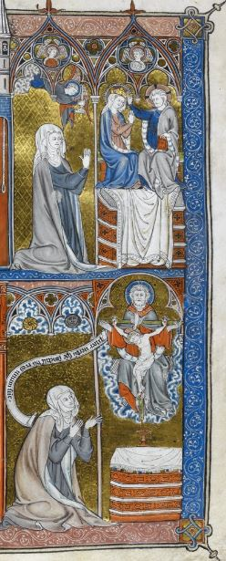 British Library Yates Thompson 11 f. 29 Penitence, devotion, and contemplation droite