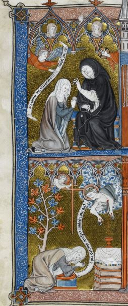 British Library Yates Thompson 11 f. 29 Penitence, devotion, and contemplation gauche