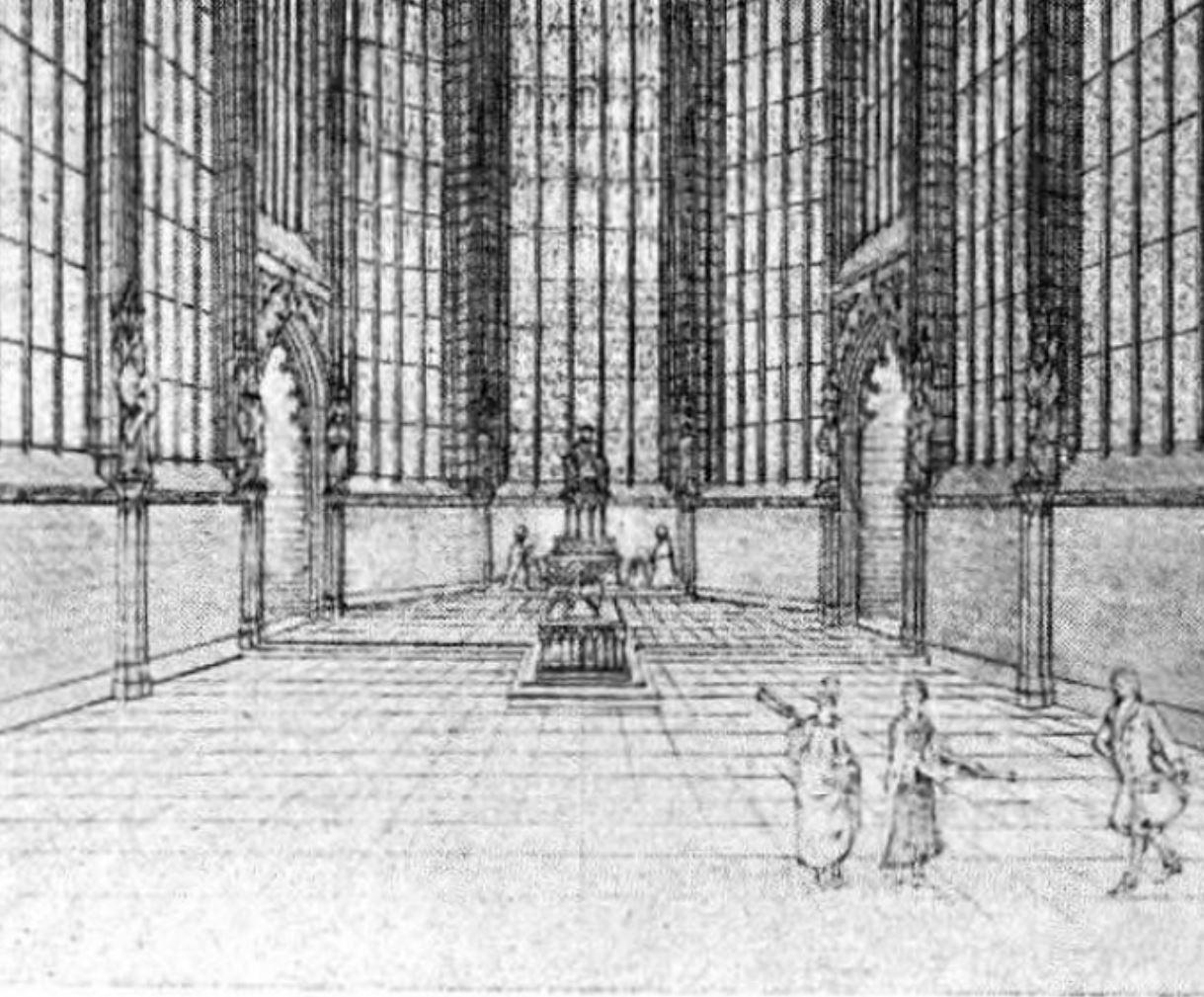 Detail Sainte Chapelle Memoires de la Societe des antiquaires du Centre T 39 p 48 1919