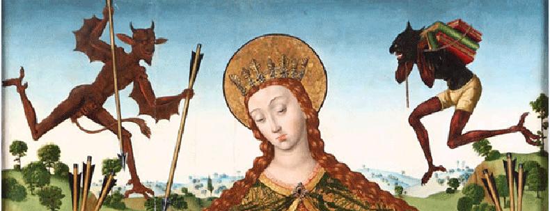 Diego_de_la_Cruz,_La_Virgen_de_la_Misericordia_con_los_Reyes_Católicos_y_su_familia. 1485 ca Monasterio_de_las_Huelgas,_Burgos detail
