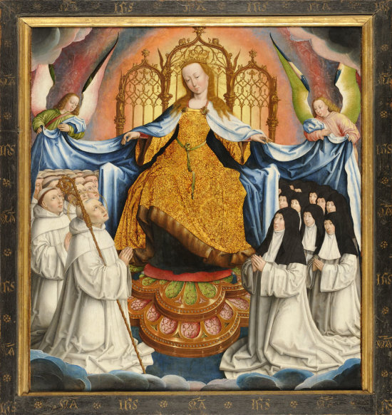 Jean Bellegambe 1507-08 Vierge des Cisterciens Musee de la Chartreuse Douai