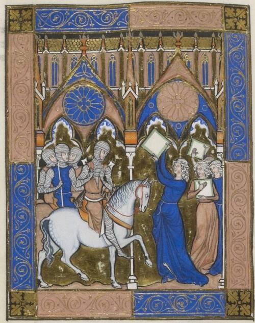 Jephte et sa fille Psautier_dit_de_saint_Louis BNF Latin 10525 fol 53v Gallica