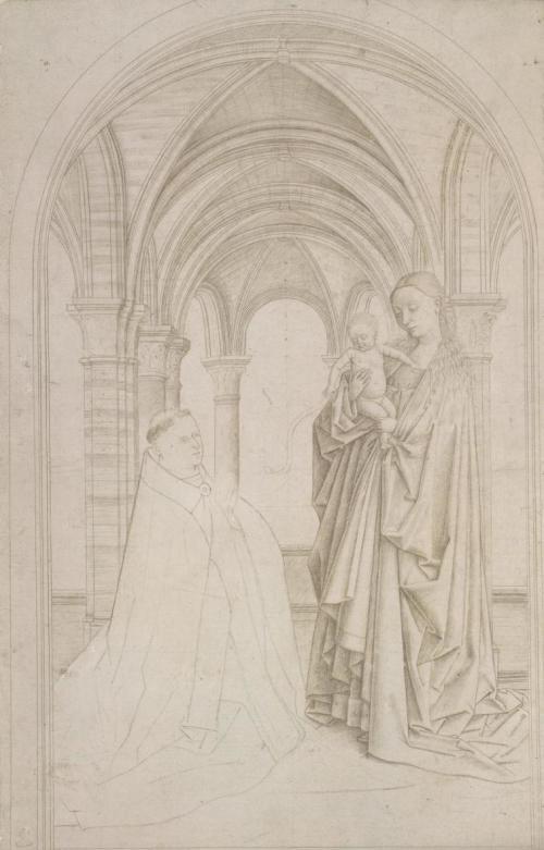 Petrus Christus Copie de la Madonne de Nicolas van Maelbeke Albertina, Vienna