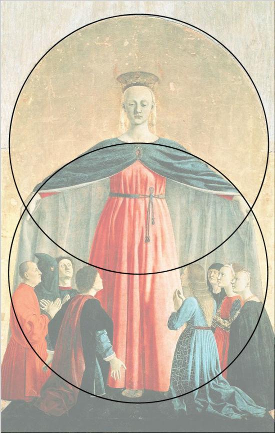 Piero della Francesca 1445-62 Polyptyque de la Misericorde Museo Civico di Sansepolcro