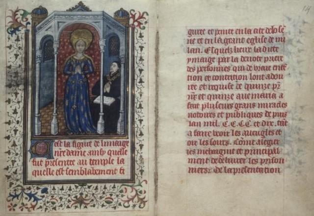 Vers 1450 Missel du Duc Philippe le Bon Cod. 1800, fol. 13-14; Osterreichische Nationalbibliothek