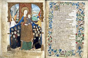 Vierge au manteau, Escritel de la confrerie Notre-Dame du Puy d'Amiens, Amiens, vers 1490-1491 (c) Societe des Antiquaires de Picardie