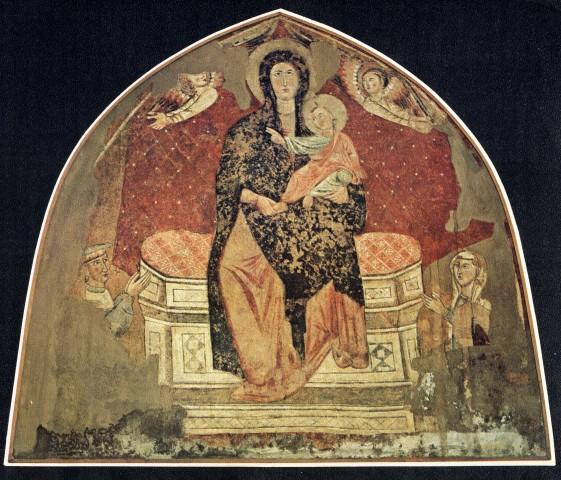 1200-99 Madonna con Bambino in trono e donatori Curia Vescovile, Rieti