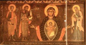 1200-99 Maestro Francesco Madonna Platytera fra tre santi, Venezia, Scuola di S. Giovanni Evangelista