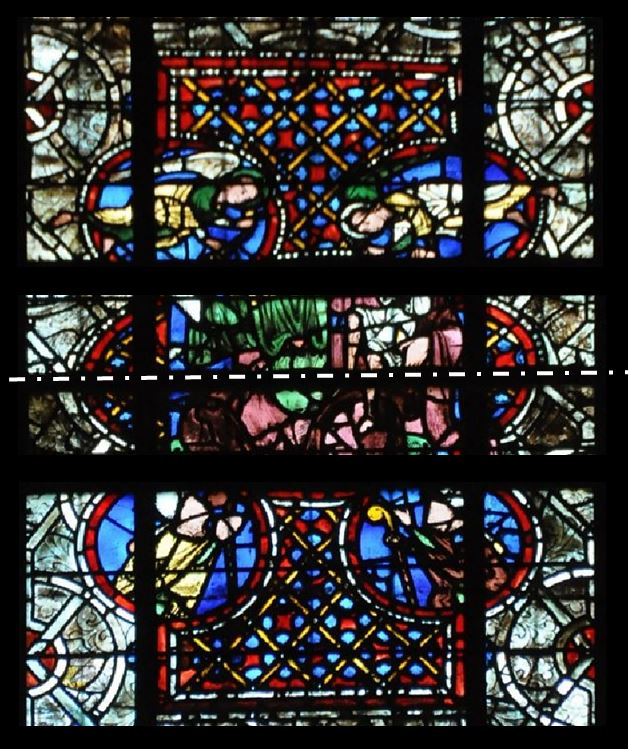 1230-35 Eveques guillaume ou Raoul de Beaumont Cathedrale Angers detail